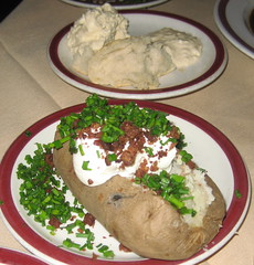 House of Prime Rib in San Francisco - baked potato and horseradish cream