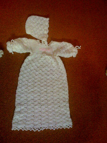 Christening Gown and Bonnet.