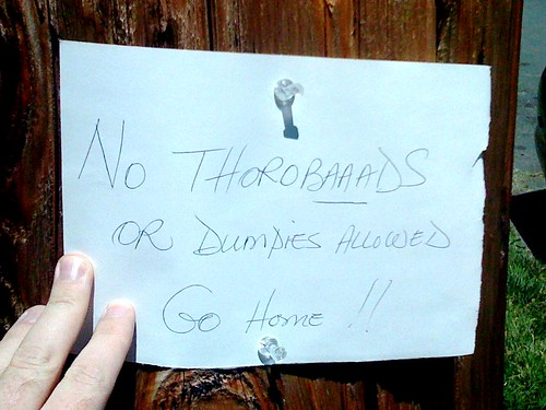 No Thorobaaads or Dumpies