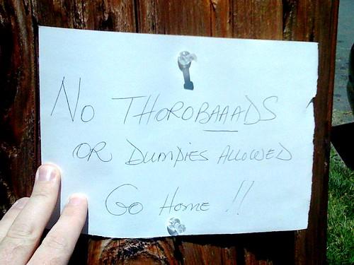 No Thorobaaads or Dumpies