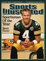 Sports Illustrated cover with Brett Favre pictured