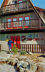 Tan-Tar-A Resort Ski Lodge Postcard (Neato Coolville) Tags: postcard missouri lakeoftheozarks skilodge snowskiing tantara osagebeach chromepostcard