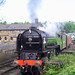 Tornado Shunting at Grosmont Station at 0918 on Friday 8th May