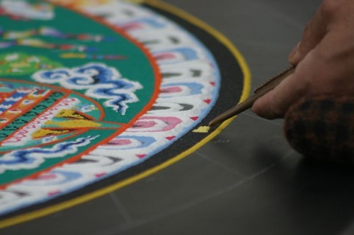 Making of the mandala at the Telfair Museum of Art, Savannah...