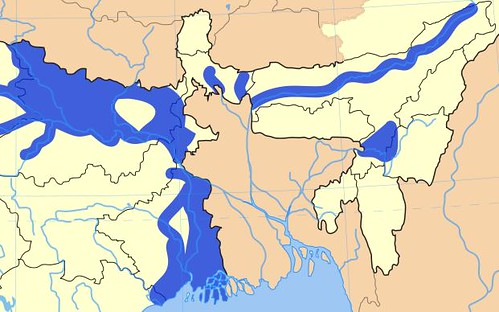 The Flood prone areas in East India