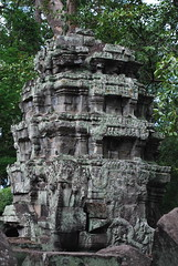 DSC_0562 (ASR Photos) Tags: tree tower abandoned stone temple mural ruins cambodia khmer buddhist roots buddhism jungle siem reap damage khan angkor wat buddah rubble preah overrun