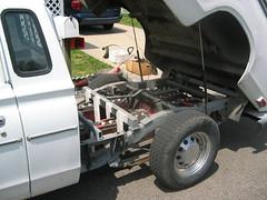 Under Bed Battery Configuration, Datsun Pickup EV (mellotrongirl) Tags: white electric king cab ghost ev vehicle 1978 datsun 620 strubhar bulletside gremco
