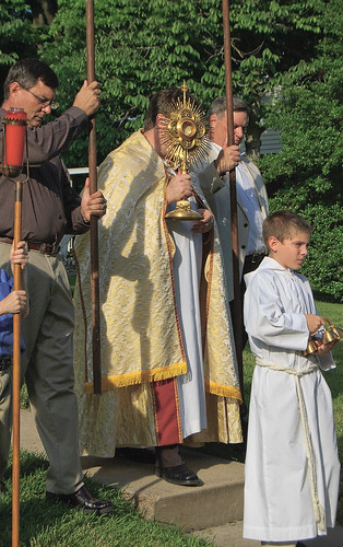 Corpus Christi Procession at Sacred Heart Roman Catholic Church, in Florissant, Missouri, USA - procession 5