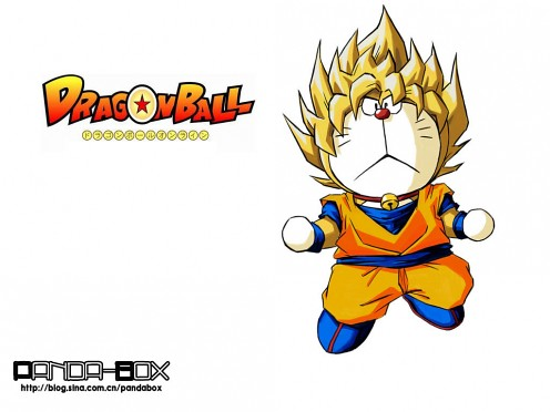gato cósmico Doraemon Dragon Ball