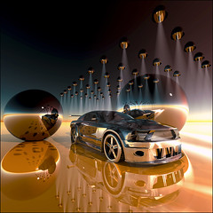 ~ Phake Phord Foto ~ (ViaMoi) Tags: lighting ford photoshop design 3d cobra chrome sphere shelby mustang refection viamoi saariysqualitypictures