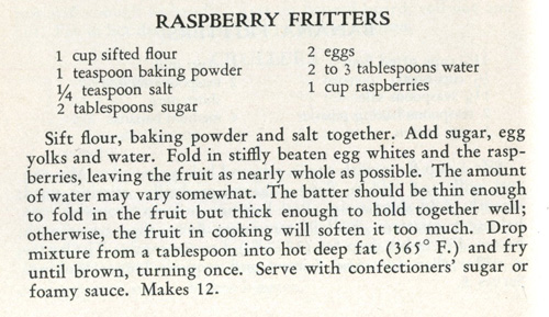 Raspberry Fritters