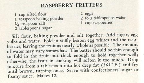 Raspberry Fritters