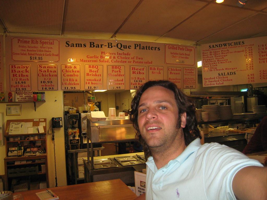 Sam's BBQ menu