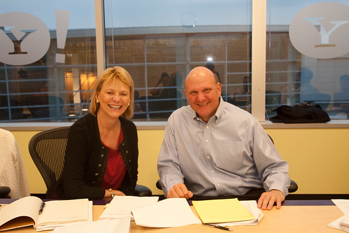 Carol Bartz & Steve Ballmer just after their media/analyst conference call by Yodel Anecdotal.