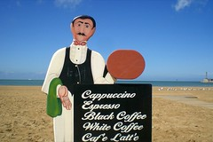 Waiter. (DJ Bass) Tags: blue signs coffee catchycolors cafe latte cappuccino margate waiters waiter mymargate