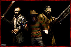 The New Faces of Fear (Boogeyman13) Tags: monster toy toys actionfigure leatherface horror remake fridaythe13th freddykrueger neca slasher jasonvoorhees mezco anightmareonelmstreet thetexaschainsawmassacre thomashewitt