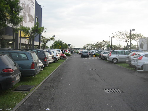 Green parking lot