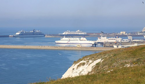 Dover Harbour from Langdon Cliffs