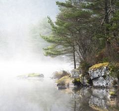 A peaceful place! (Arnfinn Lie, Norway) Tags: mist nature water norway fog forest sandnes rogaland wow1 wow2 wow3 wow4 arnfinn wow5 hommersk wowhalloffame carlzeiss1680mm sonyalpha350 artistoftheyearlevel3 artistoftheyearlevel4 artistoftheyearlevel5 artistoftheyearlevel6