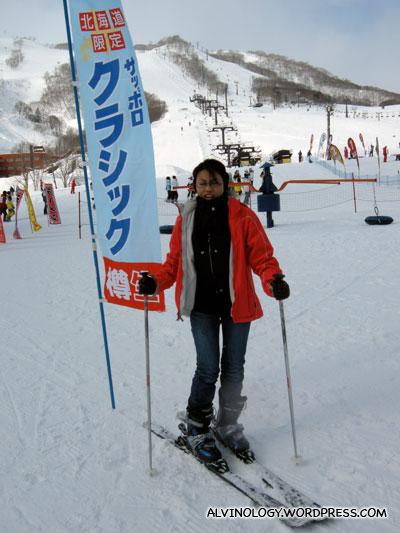 Rachel on ski