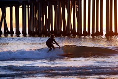 surfing and verticles (jst images) Tags: sunset water waves surfer surfing oc huntingtonbeach hb