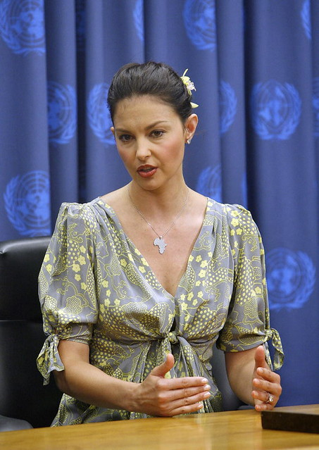 Actress and Philanthropist Addresses Press Conference on Human Trafficking by United Nations Photo