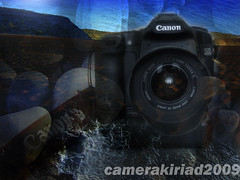 Canon EOS 40D doodle (camerakiriad) Tags: camera sky water stone sand doodle photomontage digitalcameraclub canoneos40d camerakiriad