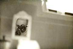 Tiny Mirror (Max F. Williams) Tags: selfportrait max me window tile bathroom 50mm mirror nikon f14 sp nikkor d40 50mmf14g maxfwilliams