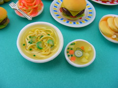 Vegetable Soup (Shay Aaron) Tags: food house soup miniature doll fake sandwich mcdonalds polymerclay cheeseburger hamburger noodles cocacola pancake spaghetti maplesyrup dollhouse pastrami veges hotcake אוכל קולה המבורגר חביתה מלאכתיד פנקייק מקדונלדס griddlecake שיאהרון סירופ מייפל מיניאטורות ציזבורגר סנדביץ מיניאטורי חביתיות מרקירקות סודה