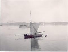 Sailboat in still water, Lysekil, Sweden