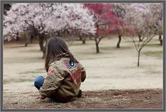 Chiharu on a hill