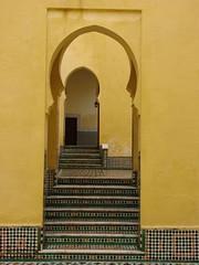 doorway sequence (daniel.virella) Tags: yellow unescoworldheritagesite doorway morocco mausoleum tiles maroc marruecos marrocos المغرب meknés muleiismail مكناس