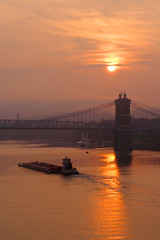 Covington Sunrise Roebling Bridge (cfegerton) Tags: ourkentucky