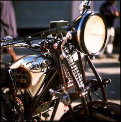 Everybody look at me 'cause I'm shooting a bike ((davide)) Tags: sardegna reflection 120 6x6 film bike mediumformat sardinia fuji bokeh slidefilm hasselblad chrome davide motoguzzi provia100f diapositiva planar 500cm carlzeiss 80mmf28 canoscan8600f dcassaa zerfaliu