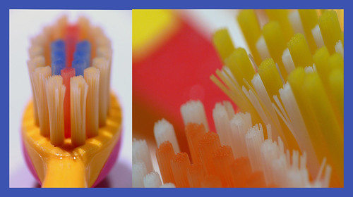 colourful kids toothbrushes