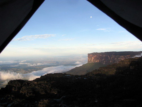 Nice view from my tent, atop Roraima, Ve by kevincure, on Flickr