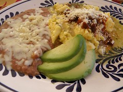 I wish breakfast always included avocados and refried beans. (Erika Ray) Tags: breakfast avocado beans refriedbeans elpaso eggs salsa