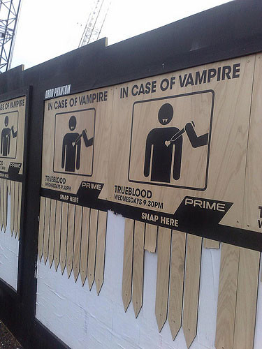 In case of an attack of vampires