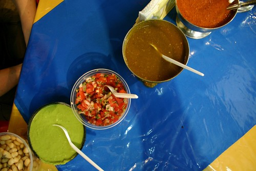 Salsas at the table