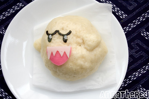 food crafts: moogle and boo ghost steam buns