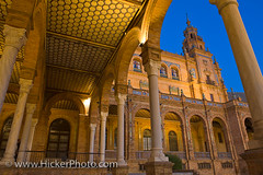 Central building in the Plaza de Espana, Sevilla, Spain (Rolf Hicker Photography) Tags: architecture sevilla spain andalusia