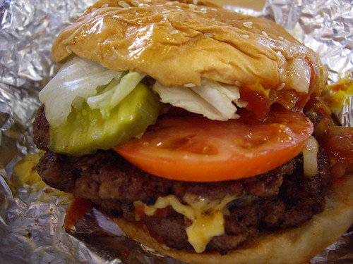Burger from Five Guys