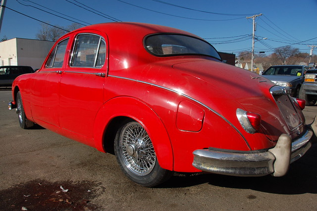 Red Jaguar Mark 1 Back left fender by Chris Devers