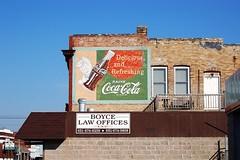Minnesota, North Branch, Coca-Cola (15,001-2) (EC Leatherberry) Tags: minnesota wall advertisement soda cocacola softdrink us61 chisagocounty