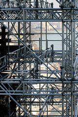 very high construction site (cool_colonia4711) Tags: scaffolding cathedral dom cologne kln baustelle scaffold colonia renovation constructionsite rhine rhein renovierung redecoration baugerst falsework installationsite