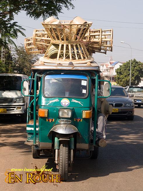 Laos Loaded Tuk-tuk