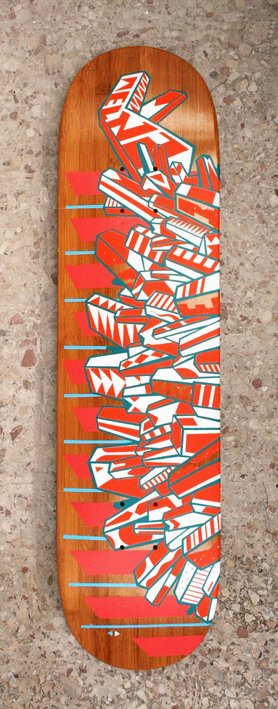 ELNA* (Handmade painted skate deck) 2009