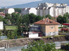 View from my apartment of Sofia 1 (Moldovia) Tags: city travel mountain architecture scenery europe sofia capital eu bulgaria pointandshoot balkans europeanunion pointshoot surroundings bg travelphotography capitalcity sonydscp72  southwesteurope