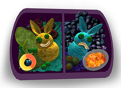 ~ 3D Bento Box ~ (MiaSnow) Tags: bunnies photoshop easter lunch 3d community cherries yum box yom sl secondlife olives program peas bento cashew blueberries bentobox deviledegg nham babyspinach nom yellowrice bluerice miasnow 3dconstruction ricebunnies gummipeachring