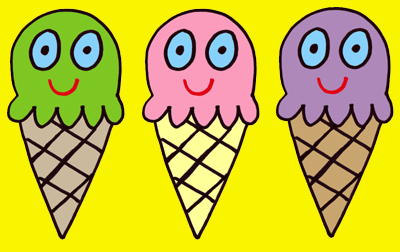 ice cream triple bg